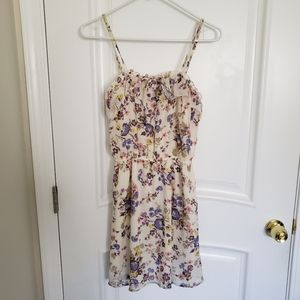 Mossimo Cream Floral Dress